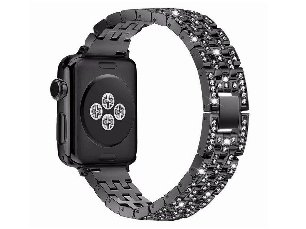 Apple Watch crystal diamond pásek 42/44mm černý