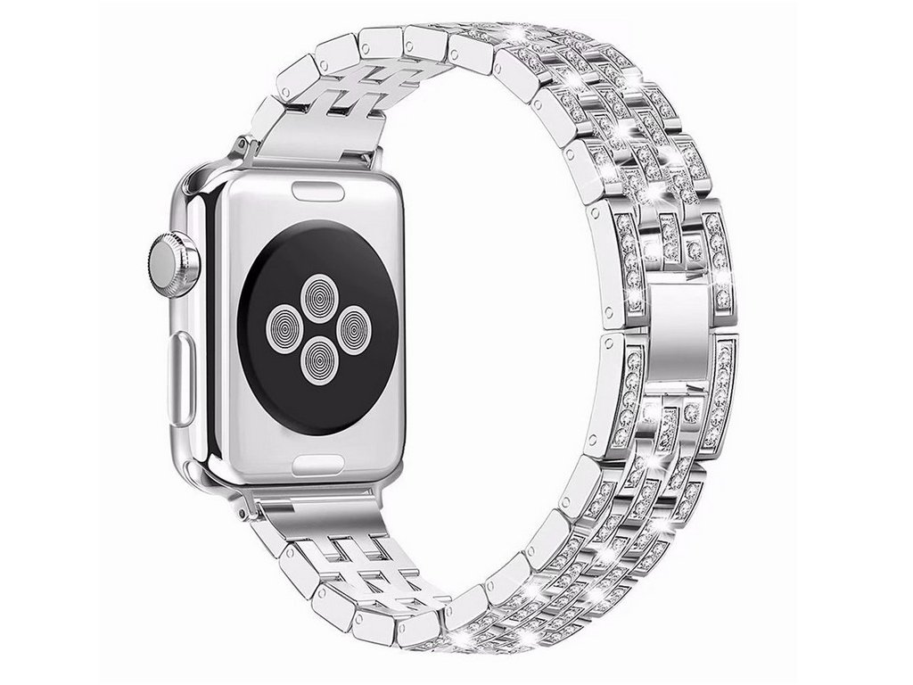 Apple Watch crystal diamond pásek 42/44mm stříbrný