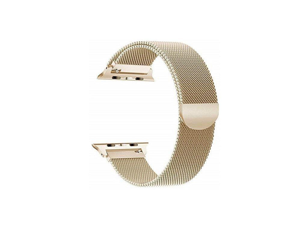 Apple Watch magentický pásek Milanese 40/42mm zlatý