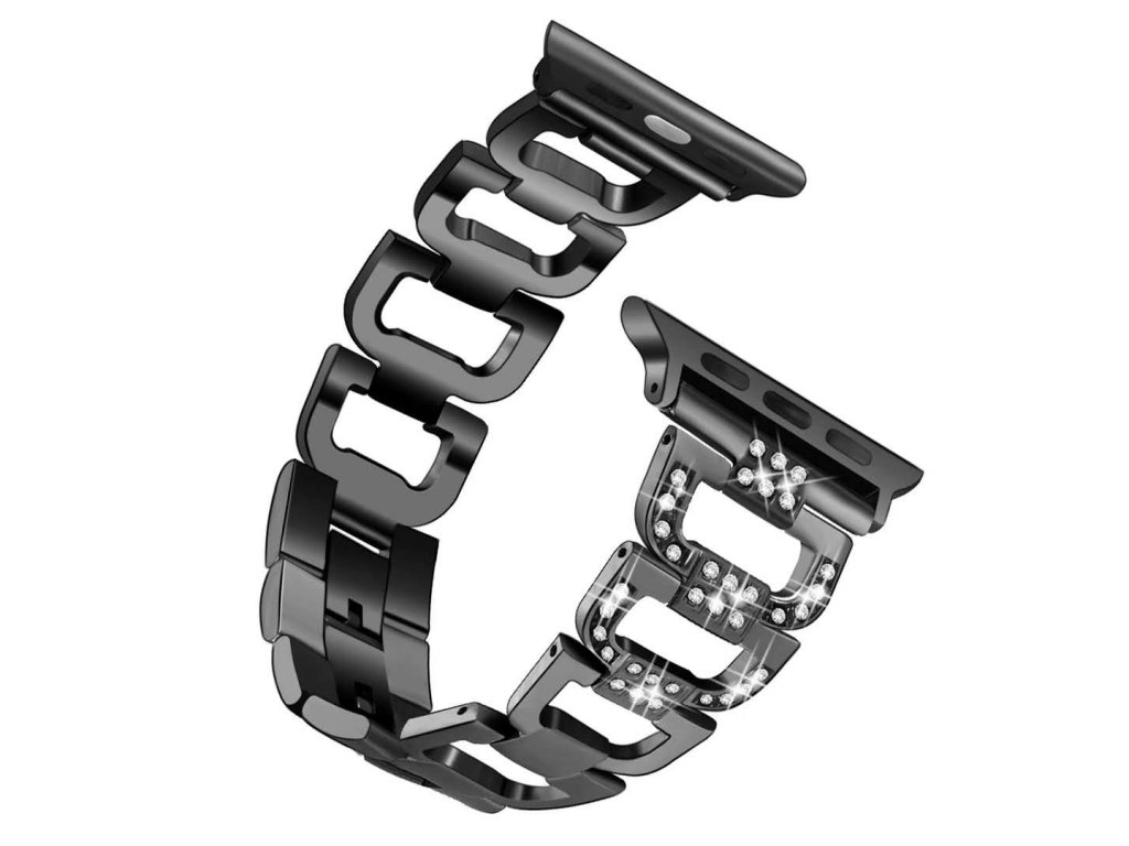 Apple Watch pásek Diamond steel 42/44mm černý