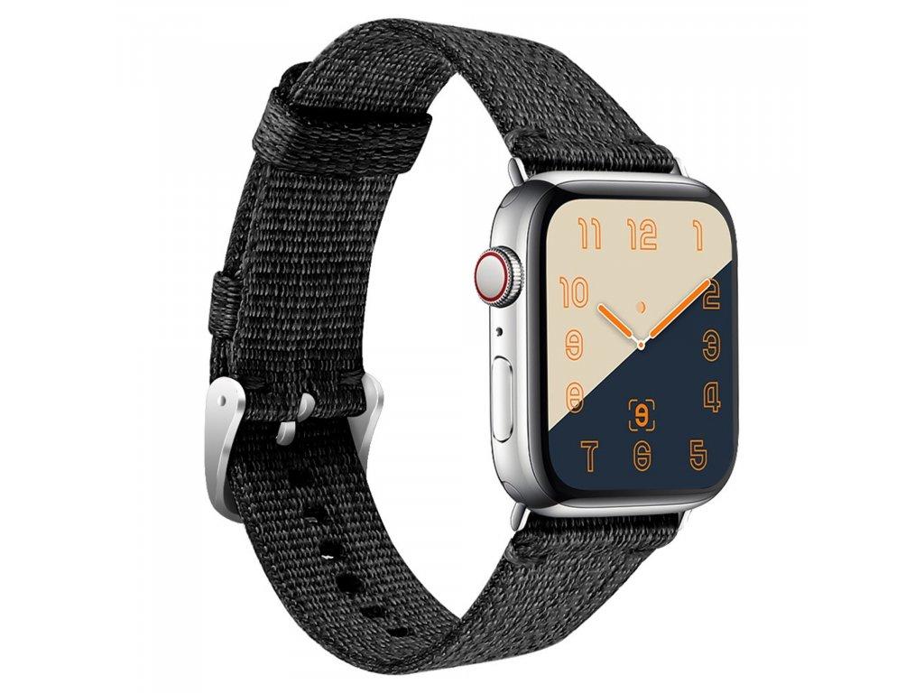 Apple Watch řemínek 38mm 40MM nylonový pásek černý