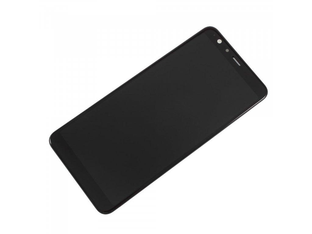Asus ZenFone Max Plus LCD displej dotykové sklo komplet přední panel černý včetně rámečku (M1) ZB570TL