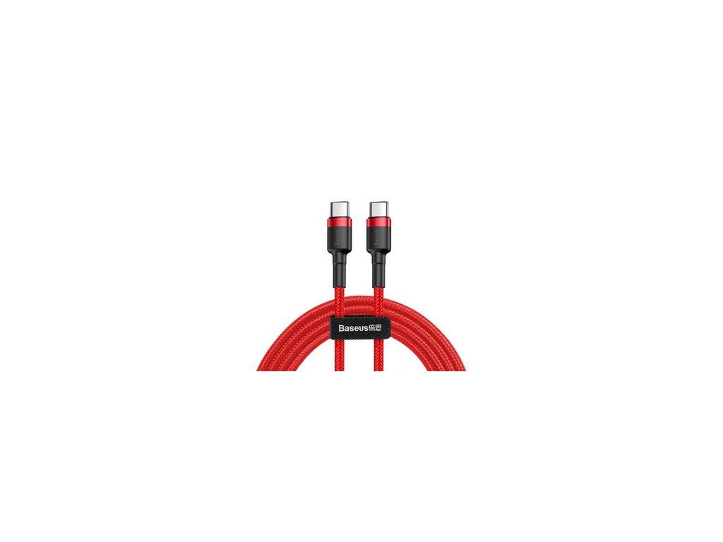 Baseus cafule datový kabel Type-C to Type-C / 2m červený