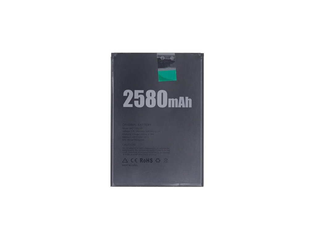 BAT17582580 Doogee Baterie 2580mAh pro X20 (Bulk)