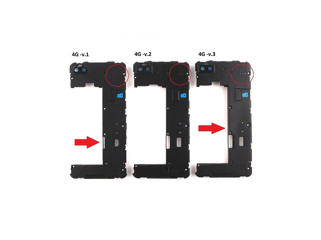 Blackberry Z10 střední kryt 4G -v.2