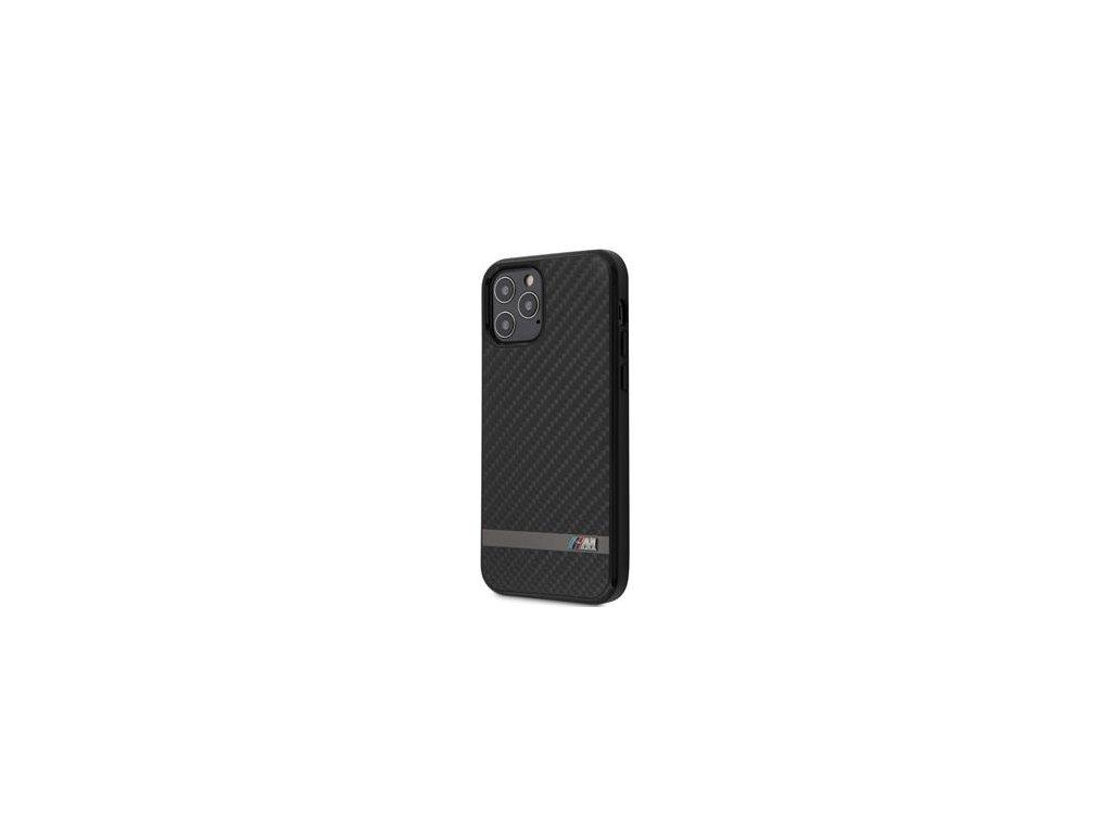 BMHCP12MASCFBK BMW Carbon & Alu Kryt pro iPhone 12/12 Pro 6.1 Black