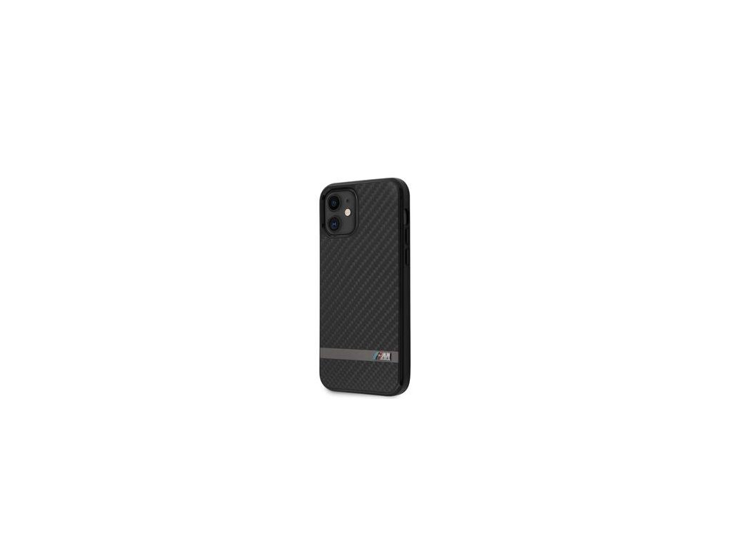 BMHCP12SASCFBK BMW Carbon & Alu Kryt pro iPhone 12 mini 5.4 Black
