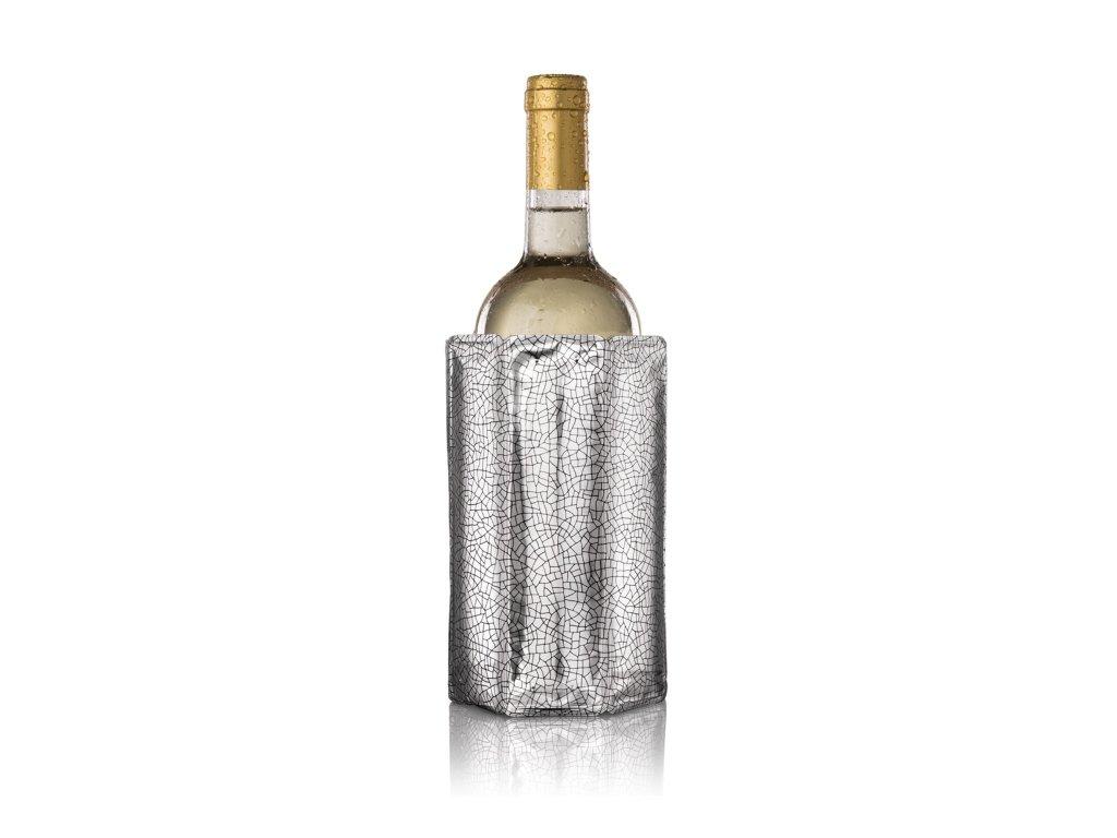 Chladič na víno vzor stříbrný