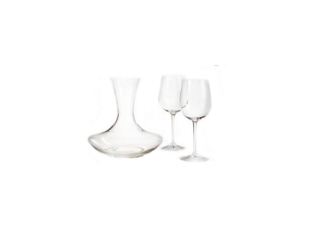 Dárkový set karafa,sklenice na víno 3 FOR 2