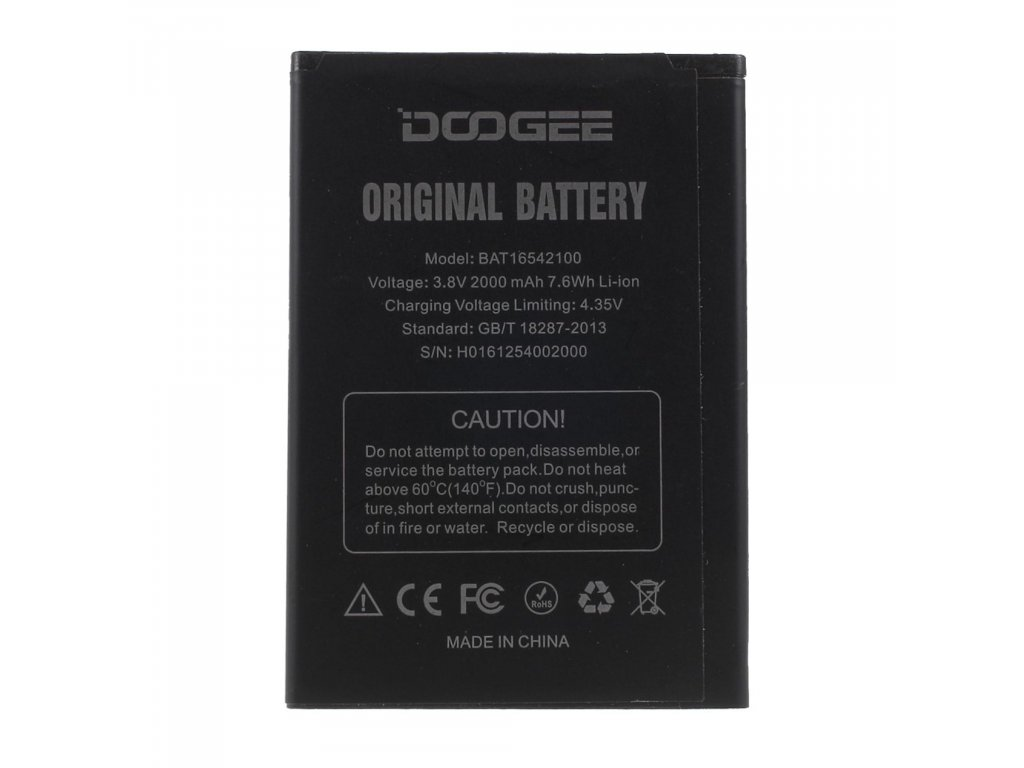 Doogee X9 mini Baterie BAT16542100 (2000mAh)