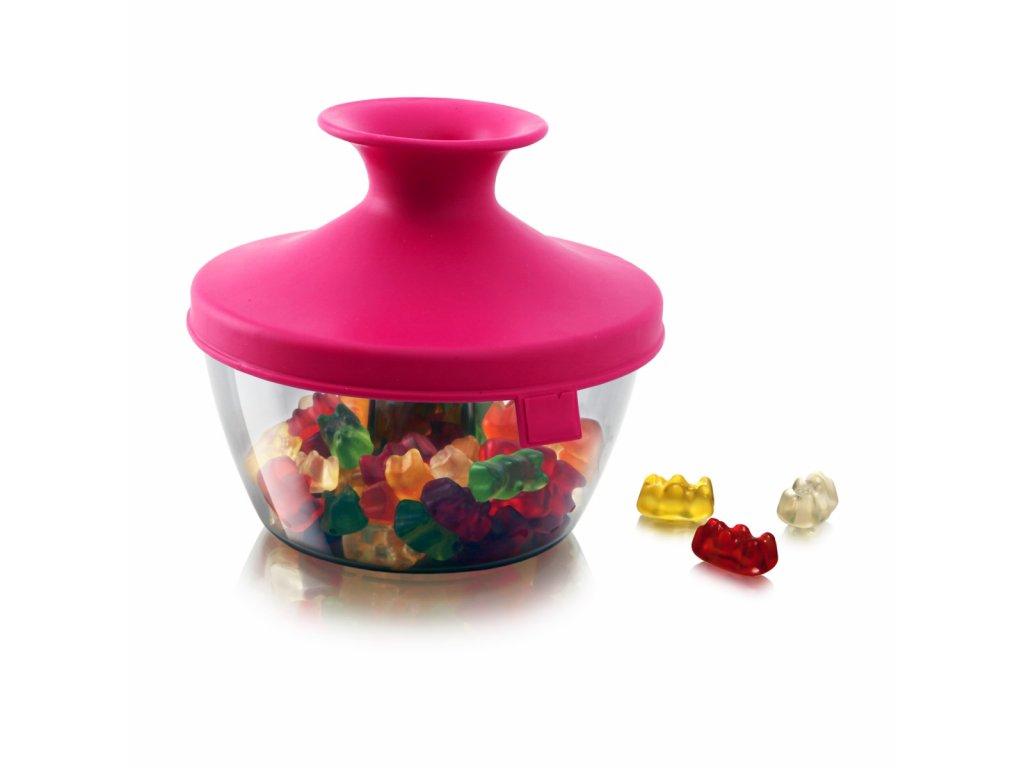 Dóza na sladkosti PopSome 0,45 L růžová