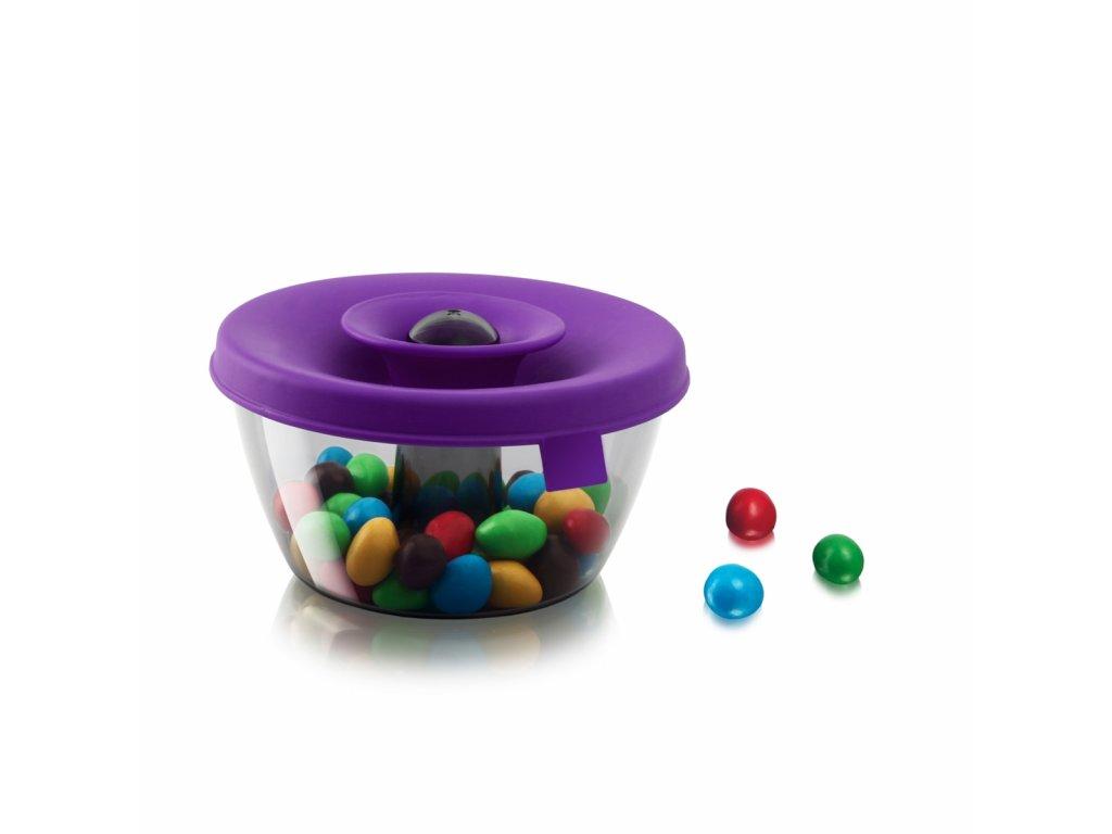Dóza na sladkosti PopSome 0,45 l, fialová