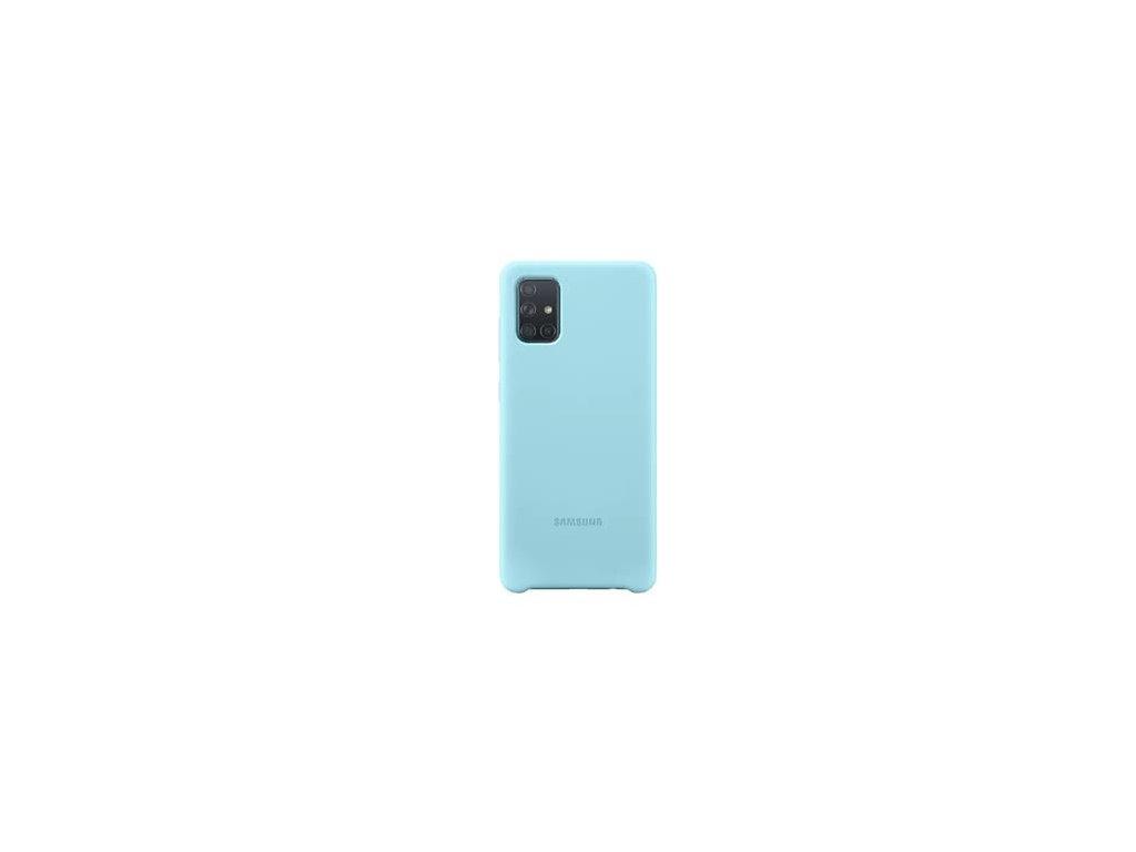 EF-PA715TLE Samsung Silikonový Kryt pro Galaxy A71 Blue