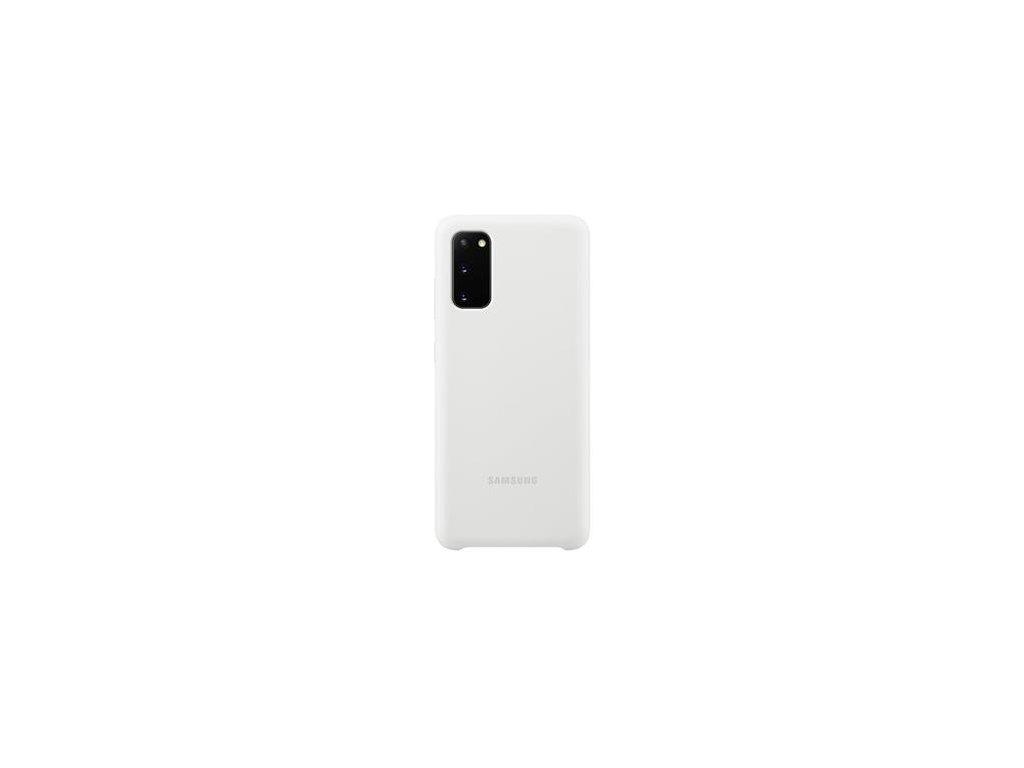 EF-PG980TWE Samsung Silikonový Kryt pro Galaxy S20 White