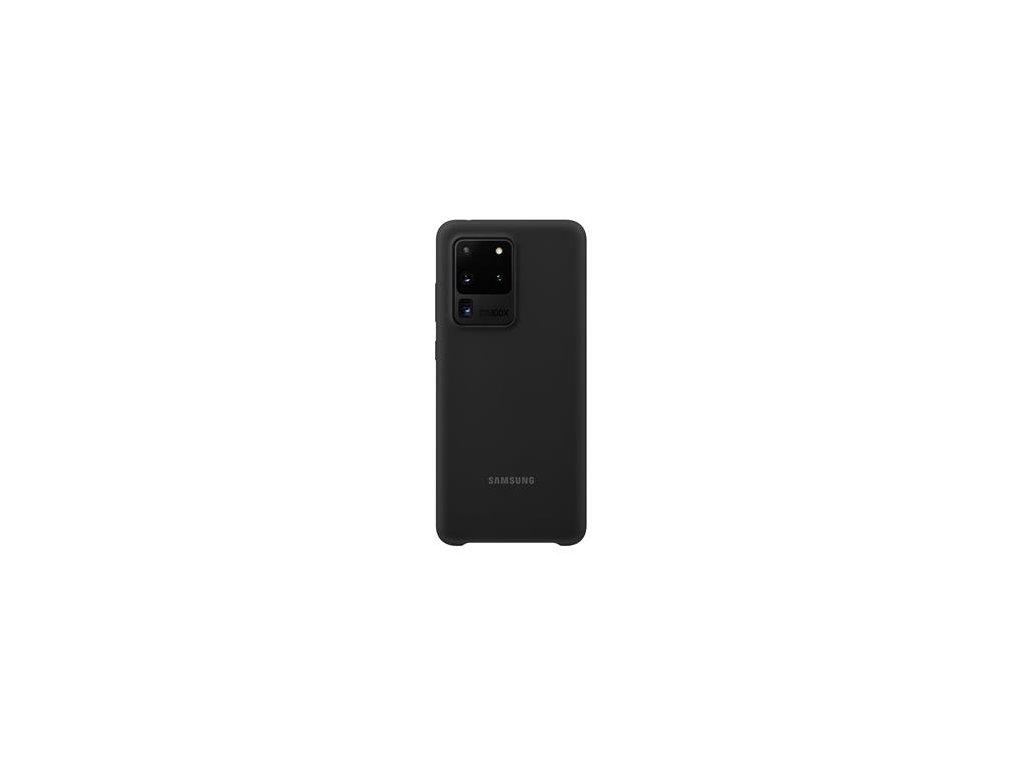 EF-PG988TBE Samsung Silikonový Kryt pro Galaxy S20 Ultra Black (Pošk. Balení)