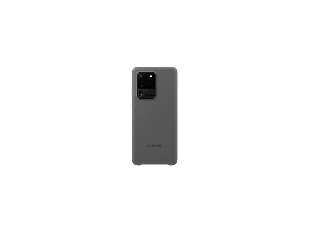 EF-PG988TJE Samsung Silikonový Kryt pro Galaxy S20 Ultra Gray (Pošk. Balení)