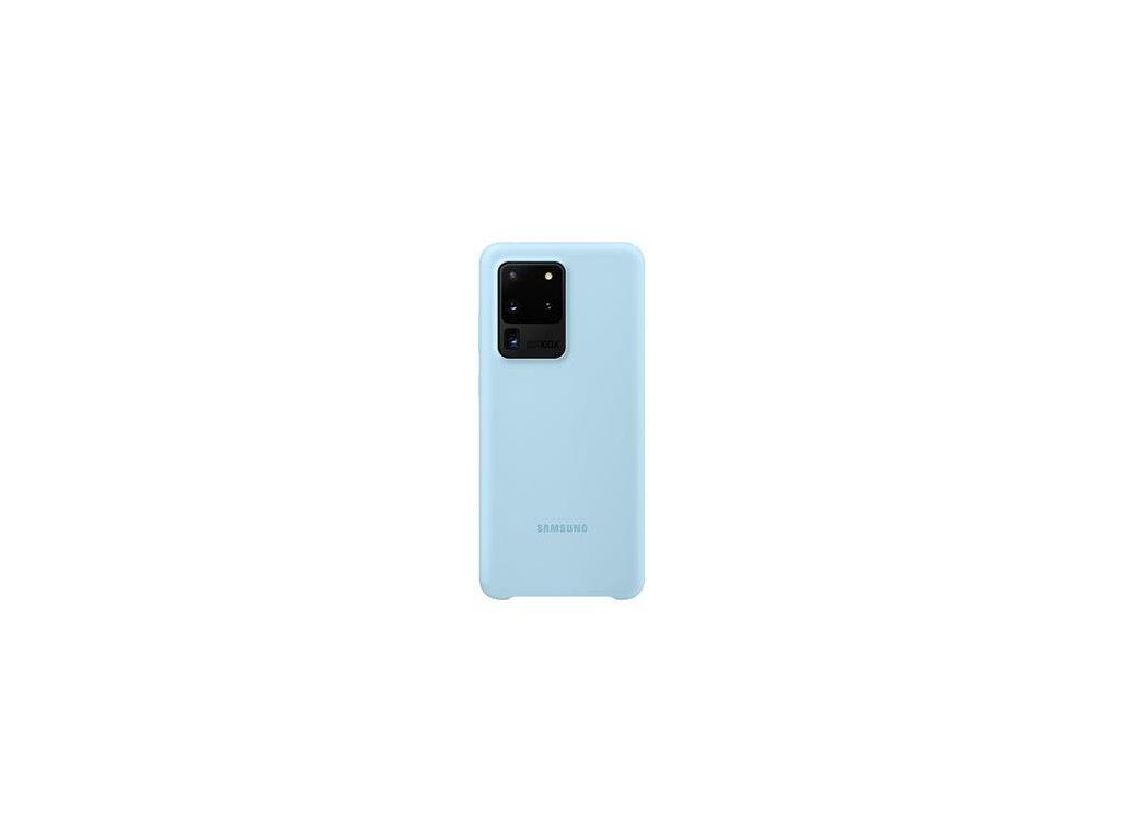 EF-PG988TLE Samsung Silikonový Kryt pro Galaxy S20 Ultra Blue