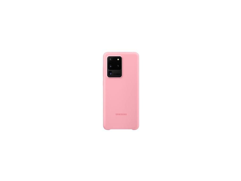 EF-PG988TPE Samsung Silikonový Kryt pro Galaxy S20 Ultra Pink (Pošk. Balení)