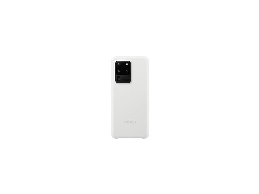 EF-PG988TWE Samsung Silikonový Kryt pro Galaxy S20 Ultra White