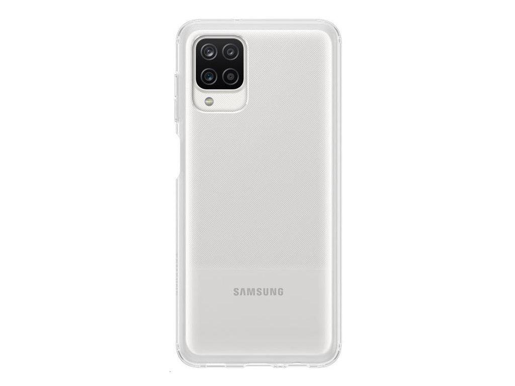 EF-QA125TTE Samsung Soft Clear Kryt pro Samsung Galaxy A12 Transparent