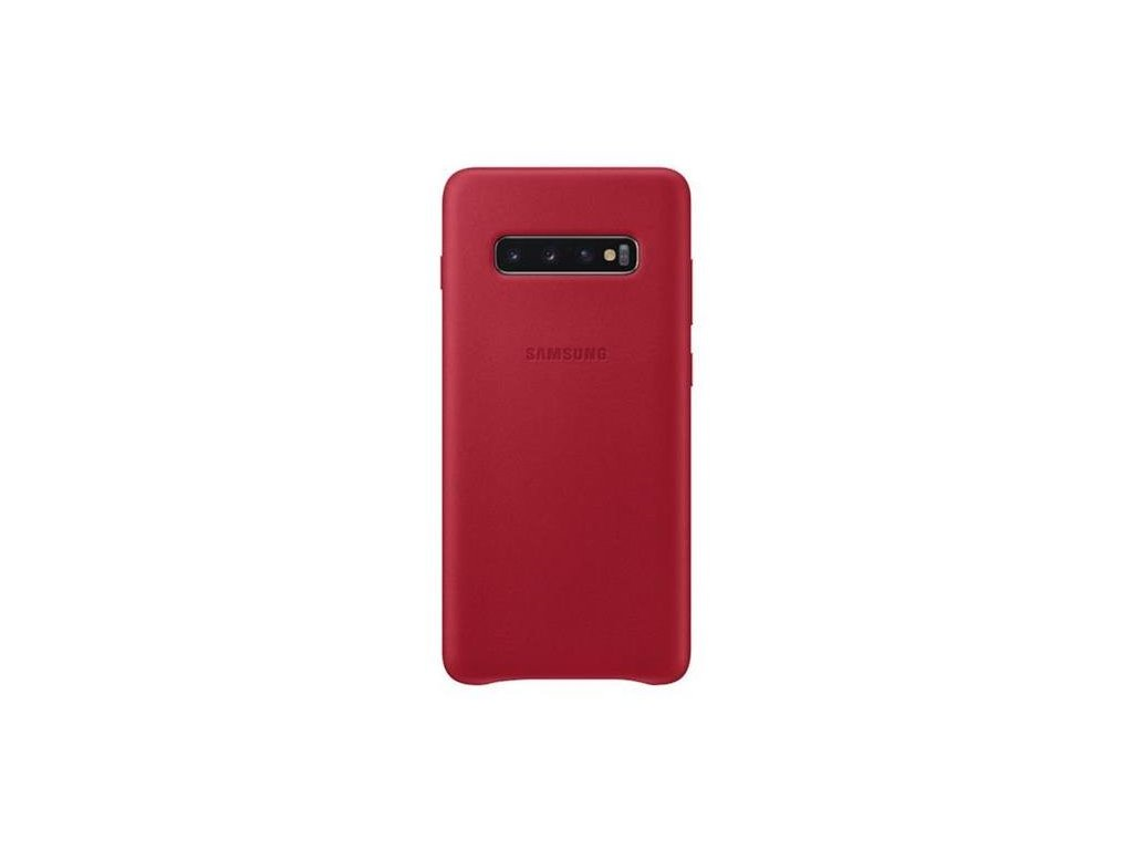 EF-VG975LRE Samsung Leather Cover Red pro G975 Galaxy S10 Plus (Pošk. Balení)