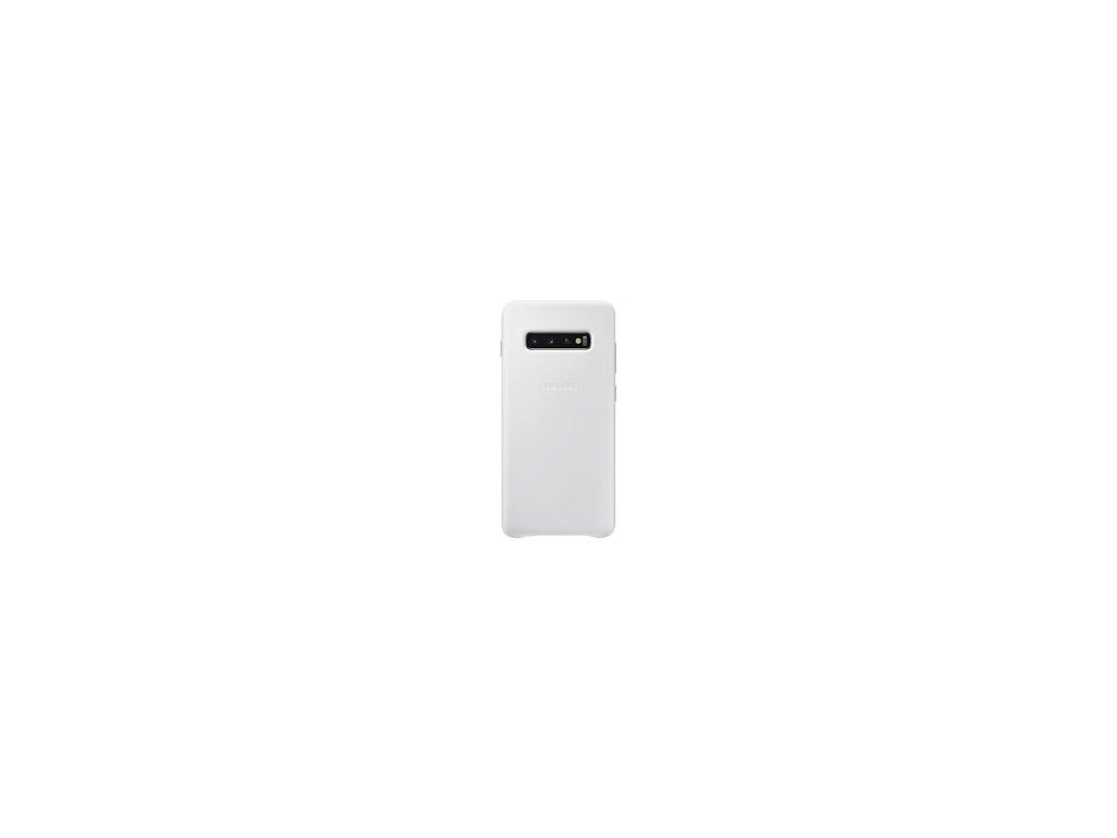 EF-VG975LWE Samsung Leather Cover White pro G975 Galaxy S10 Plus