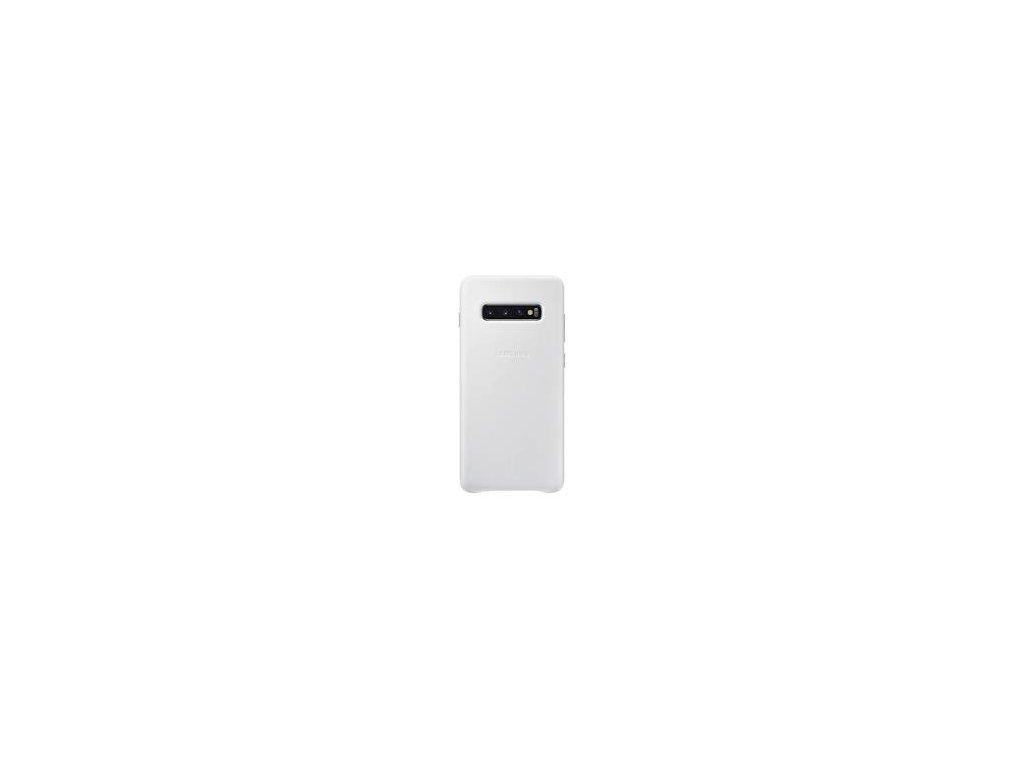 EF-VG975LWE Samsung Leather Cover White pro G975 Galaxy S10 Plus (Pošk. Balení)