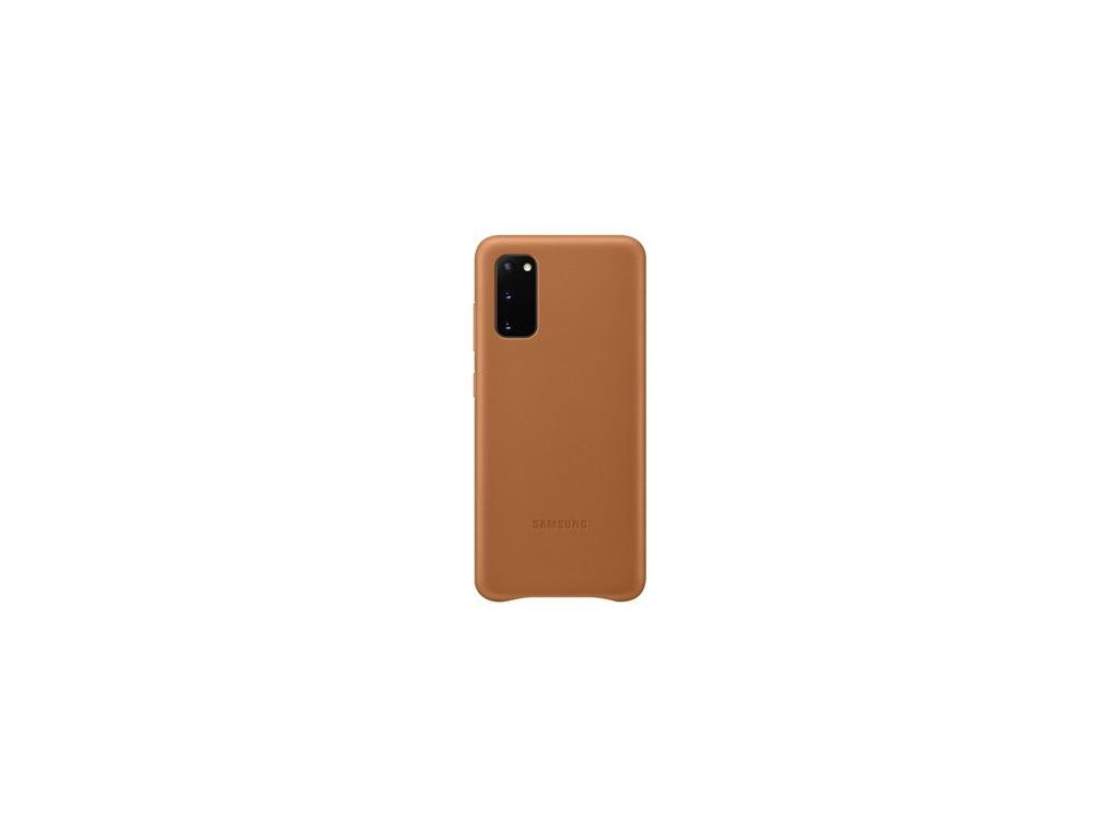 EF-VG980LAE Samsung Kožený Kryt pro Galaxy S20 Brown