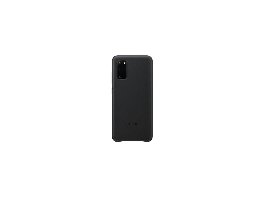EF-VG980LBE Samsung Kožený Kryt pro Galaxy S20 Black