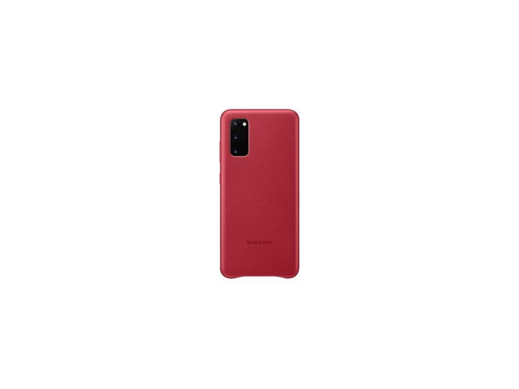 EF-VG980LRE Samsung Kožený Kryt pro Galaxy S20 Red