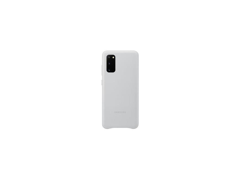 EF-VG980LSE Samsung Kožený Kryt pro Galaxy S20 Silver