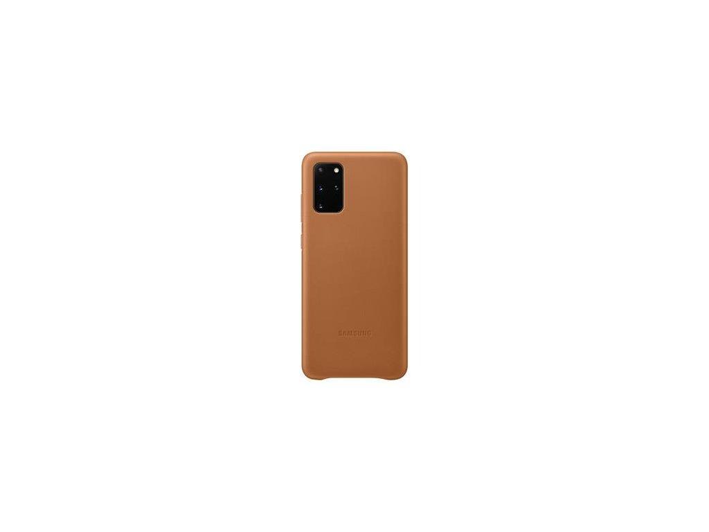 EF-VG985LAE Samsung Kožený Kryt pro Galaxy S20+ Brown