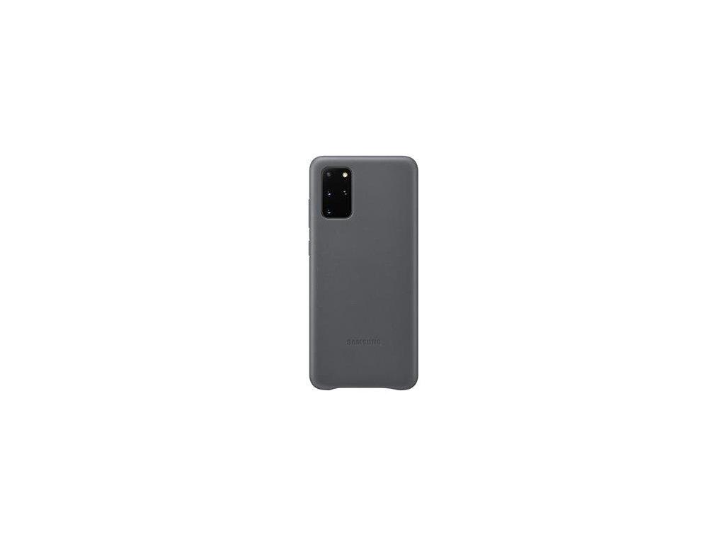 EF-VG985LJE Samsung Kožený Kryt pro Galaxy S20+ Gray