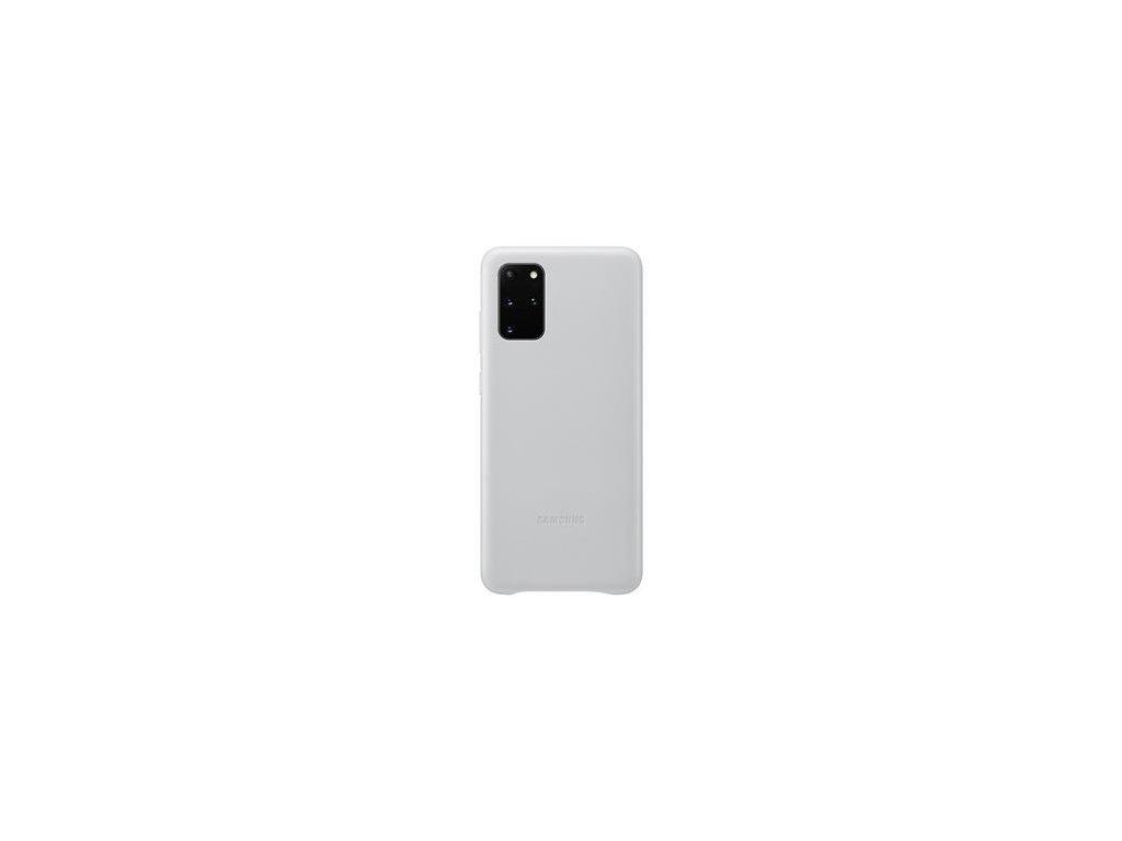 EF-VG985LSE Samsung Kožený Kryt pro Galaxy S20+ Silver (Pošk. Balení)