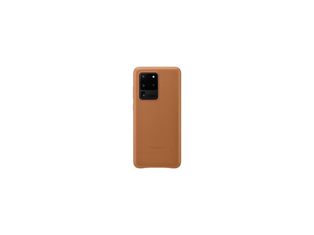 EF-VG988LAE Samsung Kožený Kryt pro Galaxy S20 Ultra Brown