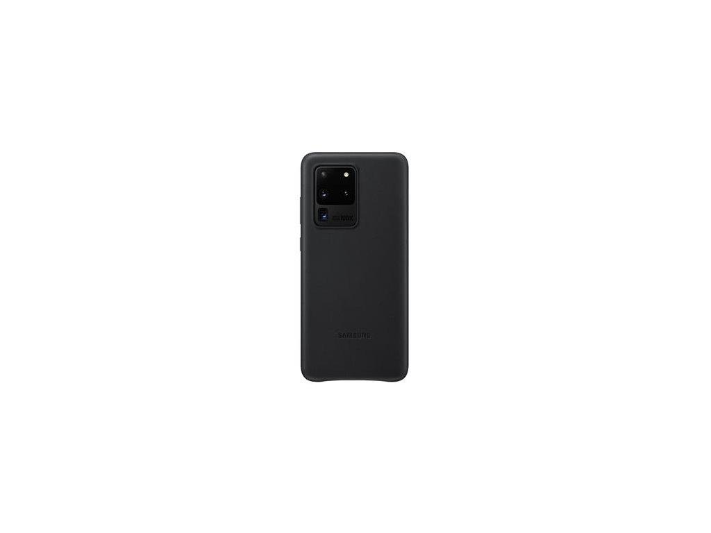 EF-VG988LBE Samsung Kožený Kryt pro Galaxy S20 Ultra Black (Pošk. Balení)
