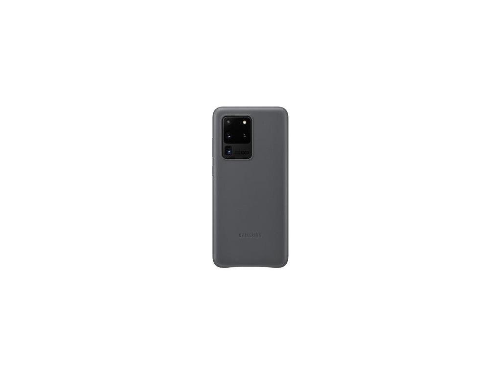 EF-VG988LJE Samsung Kožený Kryt pro Galaxy S20 Ultra Gray (Pošk. Balení)