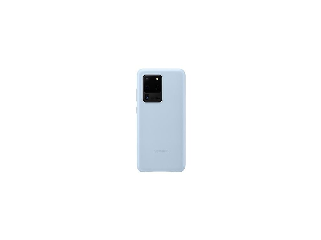 EF-VG988LLE Samsung Kožený Kryt pro Galaxy S20 Ultra Blue