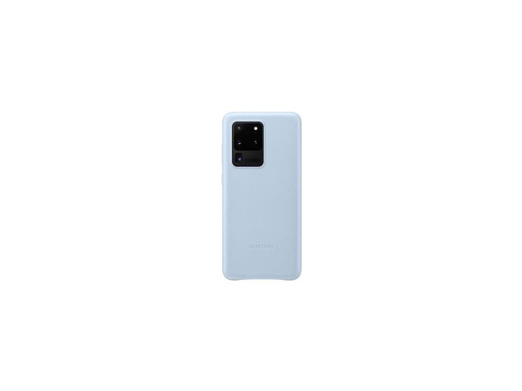 EF-VG988LLE Samsung Kožený Kryt pro Galaxy S20 Ultra Blue (Pošk. Balení)