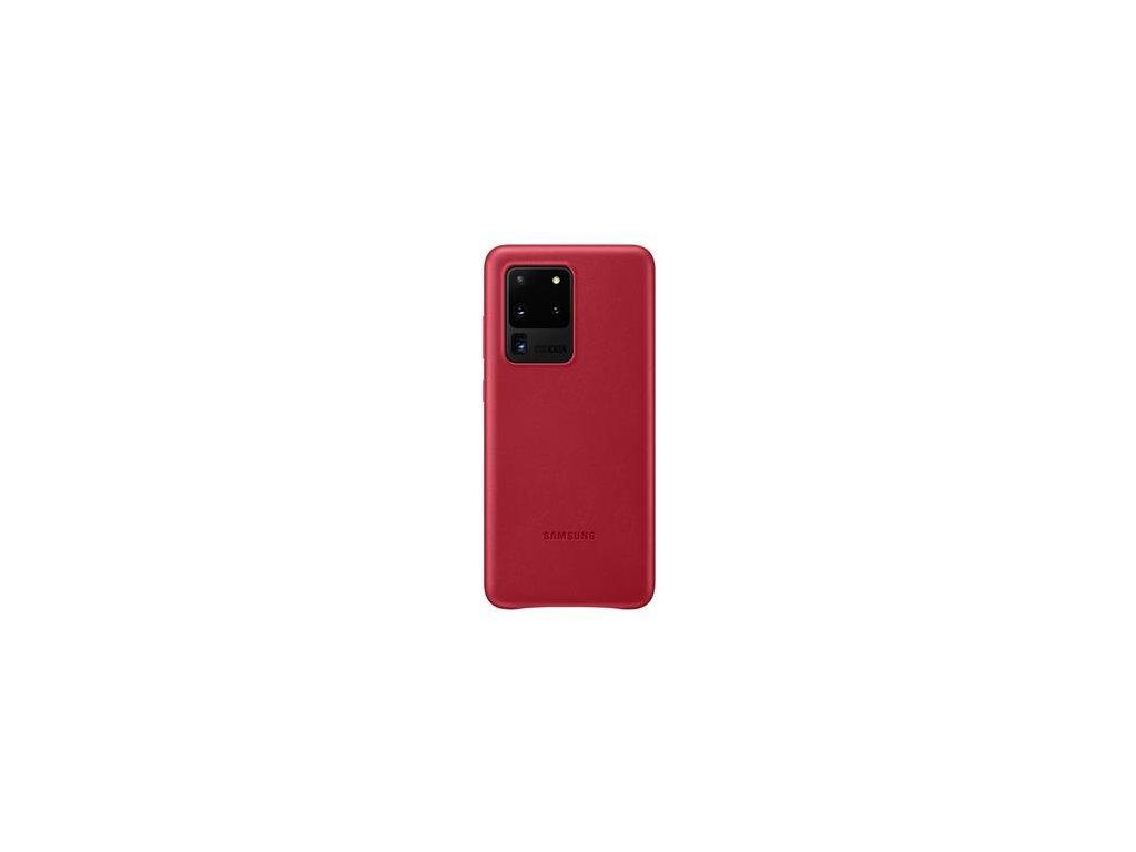 EF-VG988LRE Samsung Kožený Kryt pro Galaxy S20 Ultra Red