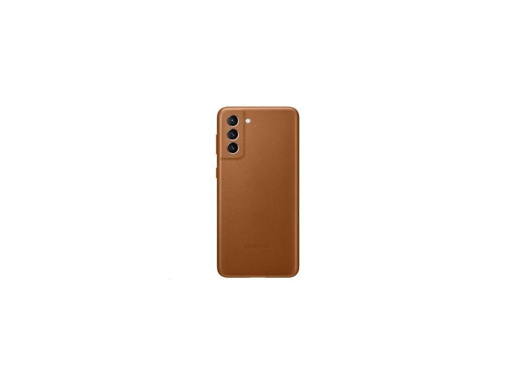 EF-VG996LAE Samsung Kožený Kryt pro Galaxy S21+ Brown