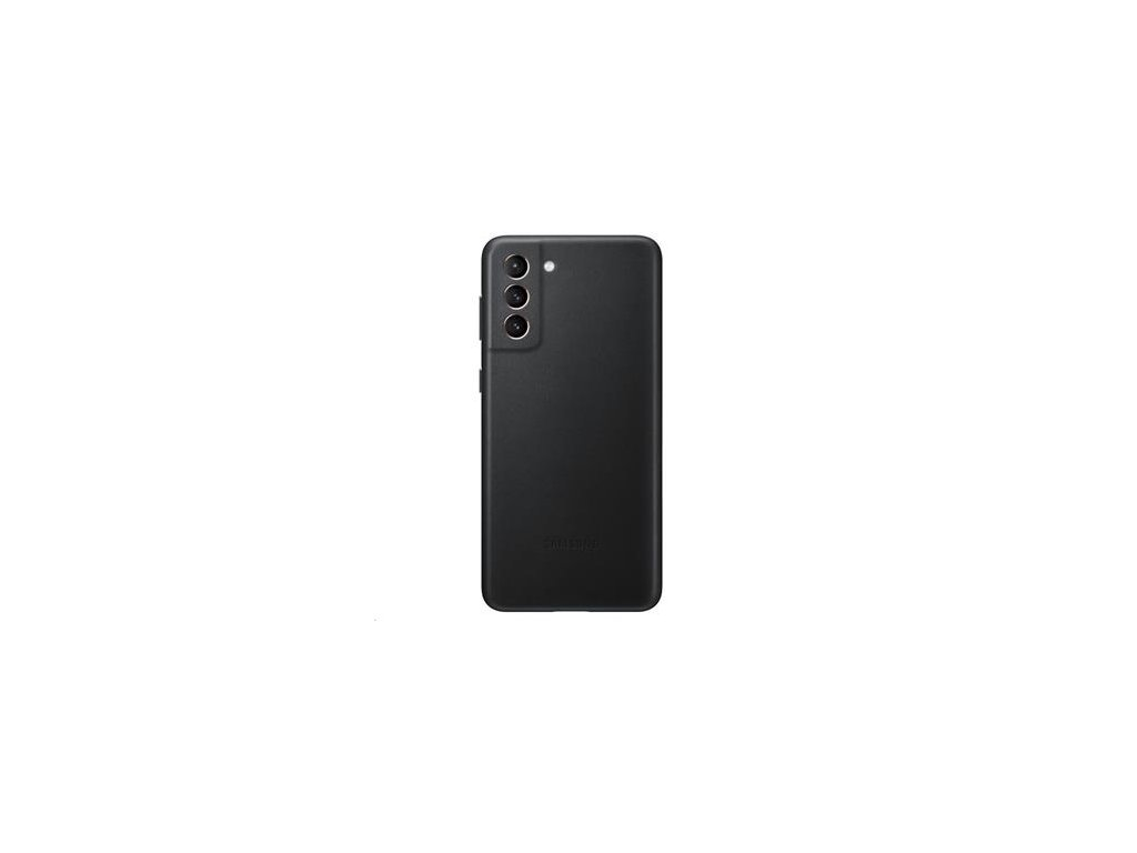 EF-VG996LBE Samsung Kožený Kryt pro Galaxy S21+ Black