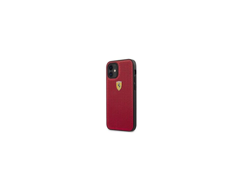 FESPEHCP12SRE Ferrari On Track Perforated Zadní Kryt pro iPhone 12 mini 5.4 Red