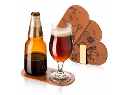 Podtácky pod pivo se stojanem (6 ks)