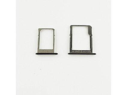 Samsung A300F,A500F,A700F SIM+MicroSD držák černý
