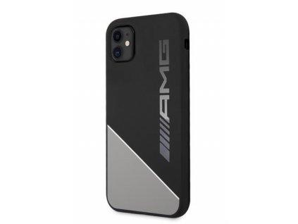 AMHCN61WGDBK AMG Liquid Silicone Two Tones Kryt pro iPhone 11 Grey