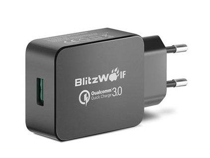 Blitzwolf BW-S5 Cestovní Nabíječka QC3.0 USB-A 18W Black
