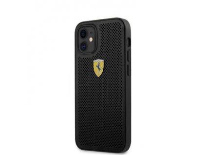 FESPEHCP12SBK Ferrari On Track Perforated Zadní Kryt pro iPhone 12 mini 5.4 Black