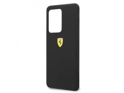 FESSIHCS69BK Ferrari SF Silikonový Kryt pro Samsung Galaxy S20 Ultra Black