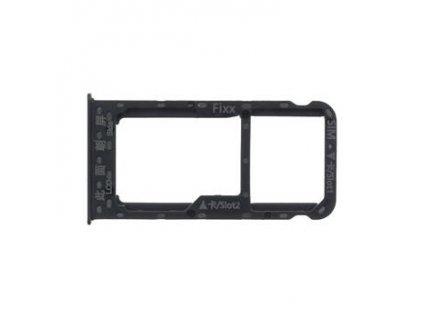 Huawei P Smart Držák SIM/Pam.Karty Black (Service Pack)